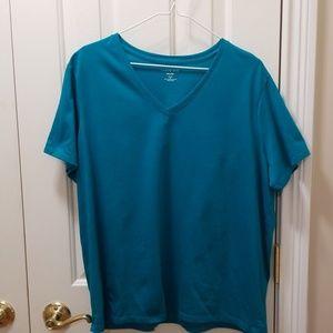 Lands' End teal t-shirt sz XL